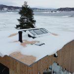funkis tak med snø på